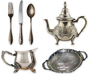 sterling silver forks spoon knife teaset serving tray - Sterling Silver Flatware