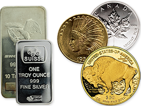 gold bullion and bars